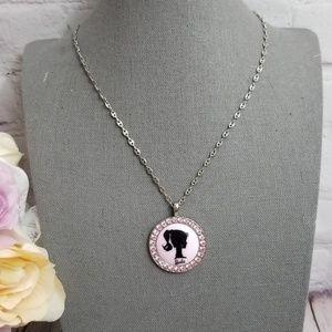 Tarina Tarantino Barbie Pink Pendant Necklace